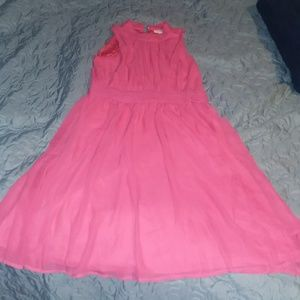 Modcloth Windy City Dress in Pink